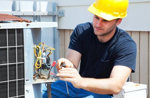 repairing the air conditioner